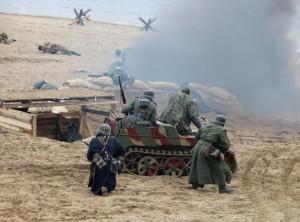 В Самаре на набережной р. Волги прошла реконструкция Керченско-Эльтигенской битвы: ФОТО