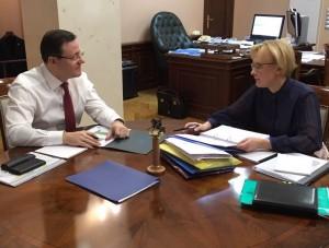 Дмитрий Азаров провёл встречу с мэром Самары