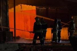 В Самаре сгорел строительный вагончик на 20 м2 Пожар произошел в Красноглинском районе.