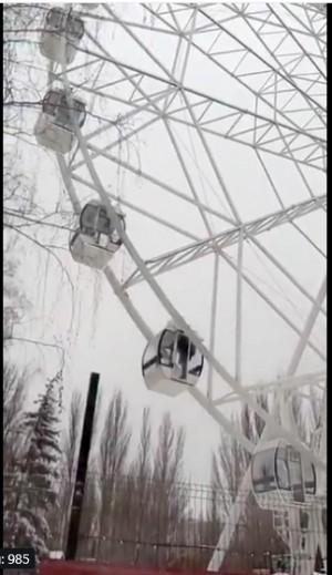 Новое колесо обозрения начинает работу в парке Гагарина в Самаре Его высота составляет 55 метров.