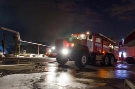 В Самаре ночью тушили пожар на 20 кв. метрах