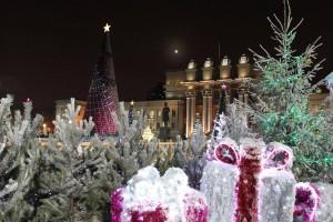 Одним из самых востребованных развлечений, организованных на площади, стала усадьба самарского Деда Мороза.