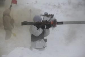 На полигоне под Самарой проведены боевые стрельбы из огнеметов с боеприпасами объемного взрыва