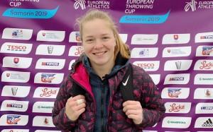В соревнованиях по метанию молота U23 (до 23 лет) она показала результат 69.18 метра.