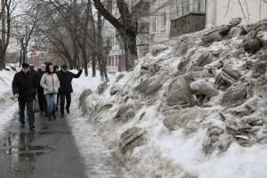 Глава Самары Елена Лапушкина проверила качество уборки дорог