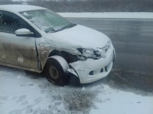 В Волжском районе иномарка Volkswagen Polo спровоцировала ДТП с пешеходом