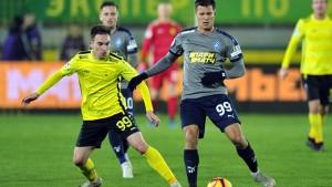 Лучший бомбардир команды в этом сезоне Максим Канунников, отметившийся победным голом в ворота