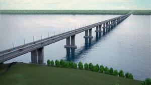 На встрече обсуждались вопросы строительства моста через Волгу в районе Климовки.