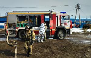 В Самарской области ликвидирован учебный пожар По сценарию произошла утечка нефтепродуктов из вагона-цистерны.