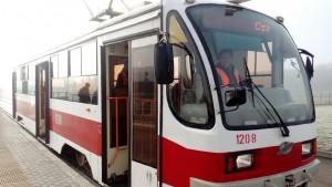 В связи с тем, что трамвайные пути в районе стадиона «Самара Арена» оказались в зоне подтопления.