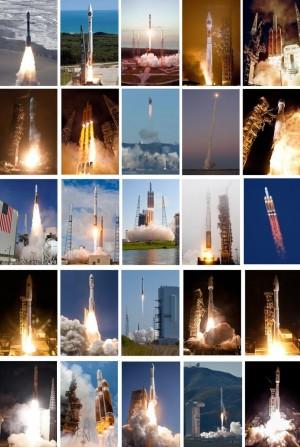 С каких космодромов мира было осуществлено наибольшее число запусков?
