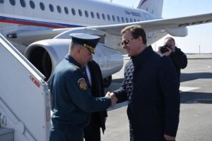 Самарскую область посещает Министр МЧС России Евгений Зиничев.
