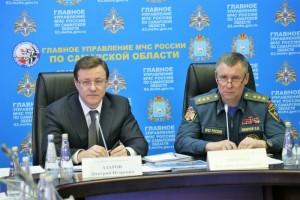 Глава МЧС России Евгений Зиничев посетил с рабочим визитом Самарскую область