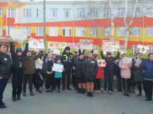 В Новокуйбышевске сотрудники Госавтоинспекции присоединились к профилактической кампании «Без вас не получится»