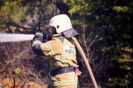 В Сызрани горела сухая трава на площади 150 кв.м.
