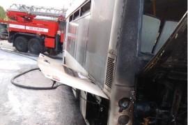 В Самаре на маршруте горел автобус К счастью, никто не пострадал.