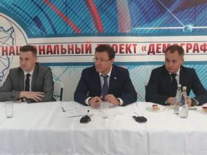 Здесь губернатор встретился с жителями посёлка «Экодолье», сел Белозерки и Красный Яр.