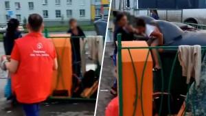 В Крутых Ключах в Самаре женщина засунула своего ребенка в контейнер