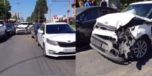 В Тольятти произошло ДТП с семью участниками