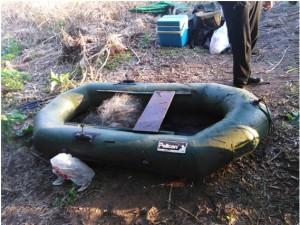 В Борском районе мужчина незаконно ловил рыбу сетями
