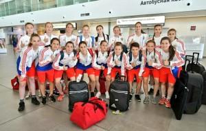 Сегодня в Самару прилетела юниорская женская сборная России по футболу.