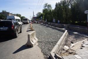 Ремонтные работы на улице Победы завершены наполовину.