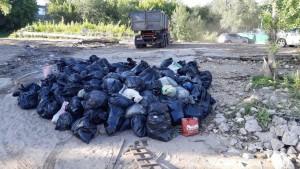 Региональный оператор наладил вывоз отходов из турбаз на правом берегу Волги и о. Поджабный