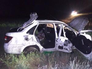 В Самарской области автомобиль перевернулся в кювет, водитель погиб