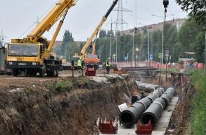 В Кировском районе областного центра на участке от пересечения ул. Ташкентской с ул. Стара-Загора до Московского шоссе продолжается масштабное обновление теплосетей.