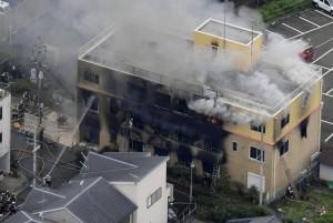 41-летний мужчина поджег студию аниме Kyoto Animation, при пожаре в трехэтажном здании погибли 33 человека, подозреваемый задержан.