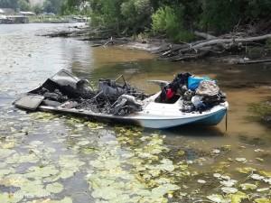 На Волге в Самарской области загорелся катер  На борту плавсредства было четыре человека