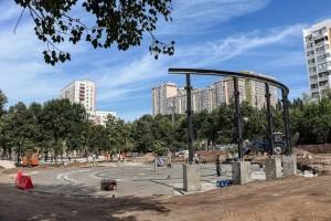 В Самаре на Крымской площади создают фонтан c подсветкой