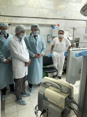 Михаил Ратманов совместно с директором ТФОМС СО Владиславом Романовым посетили Самарский областной клинический кардиологический диспансер с рабочим визитом.