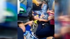 На трассе Сызрань - Саратов задержали маршрутку с детьми, которые двое суток ехали в нечеловеческих условиях