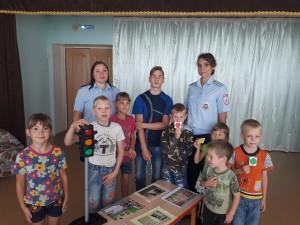 В Самарской области полицейские провели для детей профилактическое мероприятие по безопасному поведению на улице