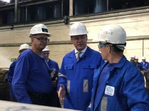 Дмитрий Азаров посетил самарский металлургический завод
