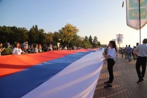 В День флага в Самаре поставлен новый рекорд: ФОТО