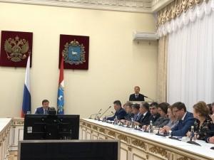 Дмитрий Азаров проводит заседание правительства Самарской области