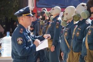 В 5-й день работы комиссии Центрального аппарата МЧС РФ на самарской земле, личный состав ГУ МЧС СО сдавал зачеты по тактико-специальной и пожарно-спасательной подготовке.