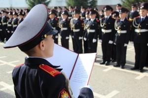 В Самарском кадетском корпусе МВД России личный состав 1 курса приведен к Торжественному обещанию кадета