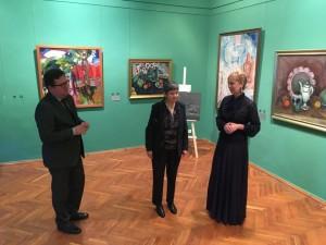Открытие выставки посетили чрезвычайный и полномочный посол Мексики госпожа Норма Пенсадо, а также атташе по вопросам культуры и образования посольства Мексики госпожа Наталия Фортуни.