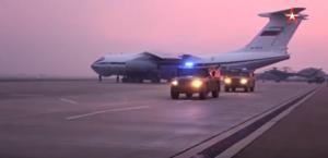 Появилось видео переброски российских бронеавтомобилей в Сирию