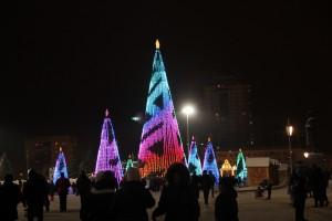 На площади Куйбышева в Самаре установят семь новогодних елок с медиагирляндами
