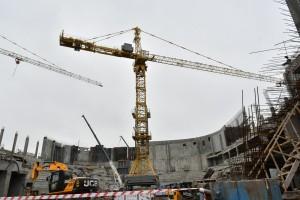Завершается первый этап строительства площадку Самарского Дворца спорта