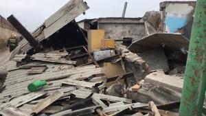 По словам хозяина жилья, в здании произошел взрыв после включения освещения.