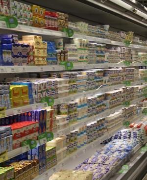 Роскачество проверило разделение молочных полок в магазинах