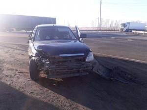 В Камышлинском районе легковушка врезалась в грузовик