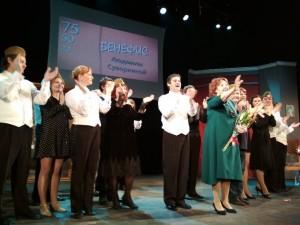 В театре Самарская площадь отметили 75-летний юбилей Людмилы Суворкиной