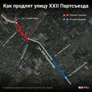 Названы сроки строительства дороги на XXII Партсъезда до Карла Маркса в Самаре