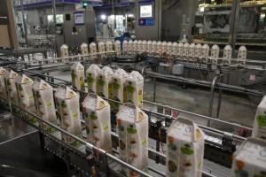 Виктор Кудряшов и директор ООО Фирма «Нектар» Герман Сиваков запустили новую высокотехнологичную производственную линию розлива сокосодержащей продукции.